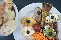Mediterranean Food Plate Stock Photo