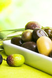 Tasting olive Royalty Free Stock Photography