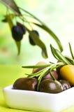 Tasting olive Stock Image