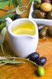 Tasting olive oil Royalty Free Stock Photo