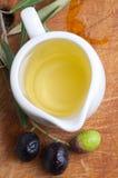 Tasting olive oil Stock Images