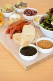 Tasting platter of various foods. A tasting platter of various foods in McLaren Vale, South Australia Stock Photography
