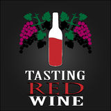 Tasting Red Wine poster. Vector illustration Royalty Free Stock Photography