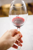 Tasting red wine Stock Photo