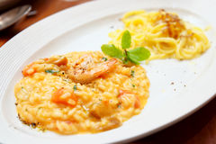 Tasting set of risotto and pasta Stock Photography