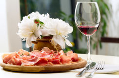 Tasting of Spanish dishes Stock Photo