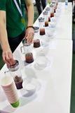 Tasting tea Royalty Free Stock Photos