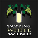 Tasting White Wine poster. Vector illustration Royalty Free Stock Photos