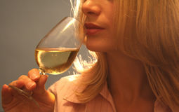 Tasting wine stock image