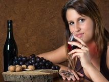 Tasting wine Stock Photos