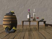 Tasting of wine - 3d render Royalty Free Stock Photos