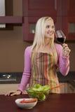 Tasting wine before dinner Stock Photography