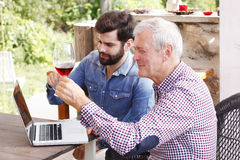 Tasting the wine Stock Photography