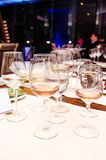 Tasting wines. Different types of wines at a tasting event Royalty Free Stock Photography