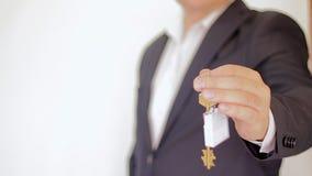 Tasto ad una nuova casa Case del bene immobile?, appartamenti da vendere o per affitto video d archivio