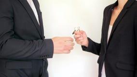 Tasto ad una nuova casa Case del bene immobile?, appartamenti da vendere o per affitto stock footage