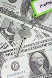 Tasto ai profitti 2 fotografia stock libera da diritti