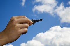 Tasto al cielo di successo il limite Fotografia Stock Libera da Diritti