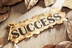 Tasto al concetto di successo Immagini Stock
