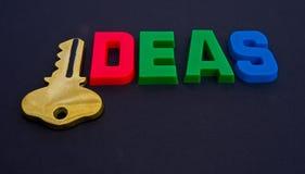 Tasto alle idee. fotografia stock libera da diritti