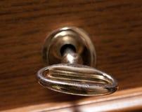 Tasto antiquato in serratura Fotografie Stock