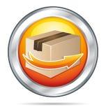 Tasto arancione di trasporto Fotografie Stock