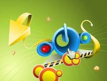 Tasto astratto 3D Immagine Stock