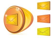 Tasto astratto del email Fotografia Stock
