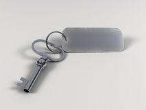 Tasto con keytag Immagini Stock