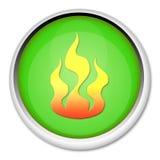 Tasto con la fiamma Immagine Stock