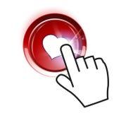 Tasto del biglietto di S. Valentino Fotografia Stock Libera da Diritti