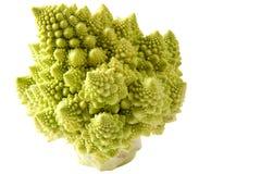 Tasto del broccolo di Romanesco alto fotografie stock libere da diritti