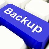 Tasto del computer di sostegno in blu per l'archiviatura e lo stoccaggio Fotografie Stock