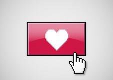 Tasto del cuore Fotografia Stock Libera da Diritti