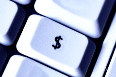 Tasto del dollaro Immagine Stock Libera da Diritti