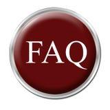 Tasto del FAQ Fotografia Stock