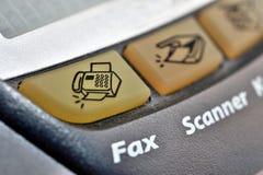 Tasto del fax immagine stock libera da diritti