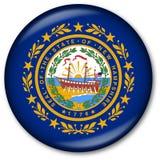 Tasto del New Hampshire della bandierina della condizione Immagine Stock