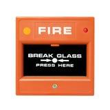 Tasto del segnalatore d'incendio di incendio Immagine Stock