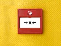 Tasto del segnalatore d'incendio di incendio immagini stock