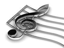 Tasto del violino Immagini Stock