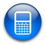 Tasto dell'icona del calcolatore Fotografia Stock