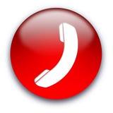 Tasto dell'icona del telefono Fotografia Stock