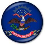 Tasto della bandierina della condizione del Dakota del Nord Immagini Stock Libere da Diritti