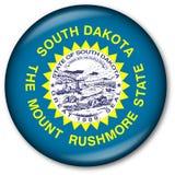 Tasto della bandierina della condizione del Dakota del Sud Fotografia Stock