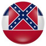 Tasto della bandierina della condizione del Mississippi Immagini Stock Libere da Diritti