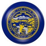 Tasto della bandierina della condizione del Nebraska Immagine Stock Libera da Diritti