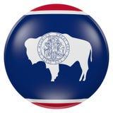 Tasto della bandierina della condizione del Wyoming Fotografia Stock Libera da Diritti