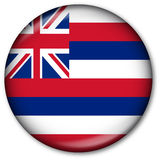 Tasto della bandierina della condizione dell'Hawai Immagini Stock Libere da Diritti