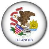 Tasto della bandierina della condizione dell'Illinois Fotografia Stock Libera da Diritti